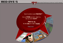 Screenshot of Red Dye 5 Portfolio